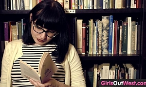 Girls out west - hirsute lesbo cuties in book store