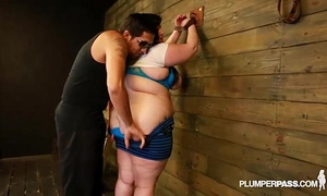 Bbw eliza allure can't live without bazookas slapped and drilled