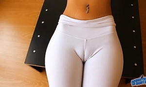 Perfect cameltoe, large teats and areolas honey. a arse! yes