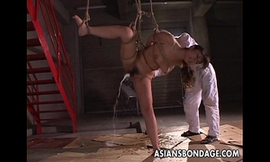 Kinky oriental playgirl in servitude acquires a wicked marital-device