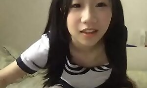 Young Chinese Asian student playing in adult free cam site