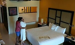 Young girl molested, forced to fuck and creampied against her spinal column wits hotel room intruder spy cam POV Indian