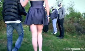 Submissive bitch girlfriend in public bang