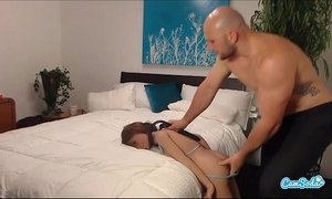Jmac acquires blow job anal and doggie from real doll in advance of cumming in her wazoo